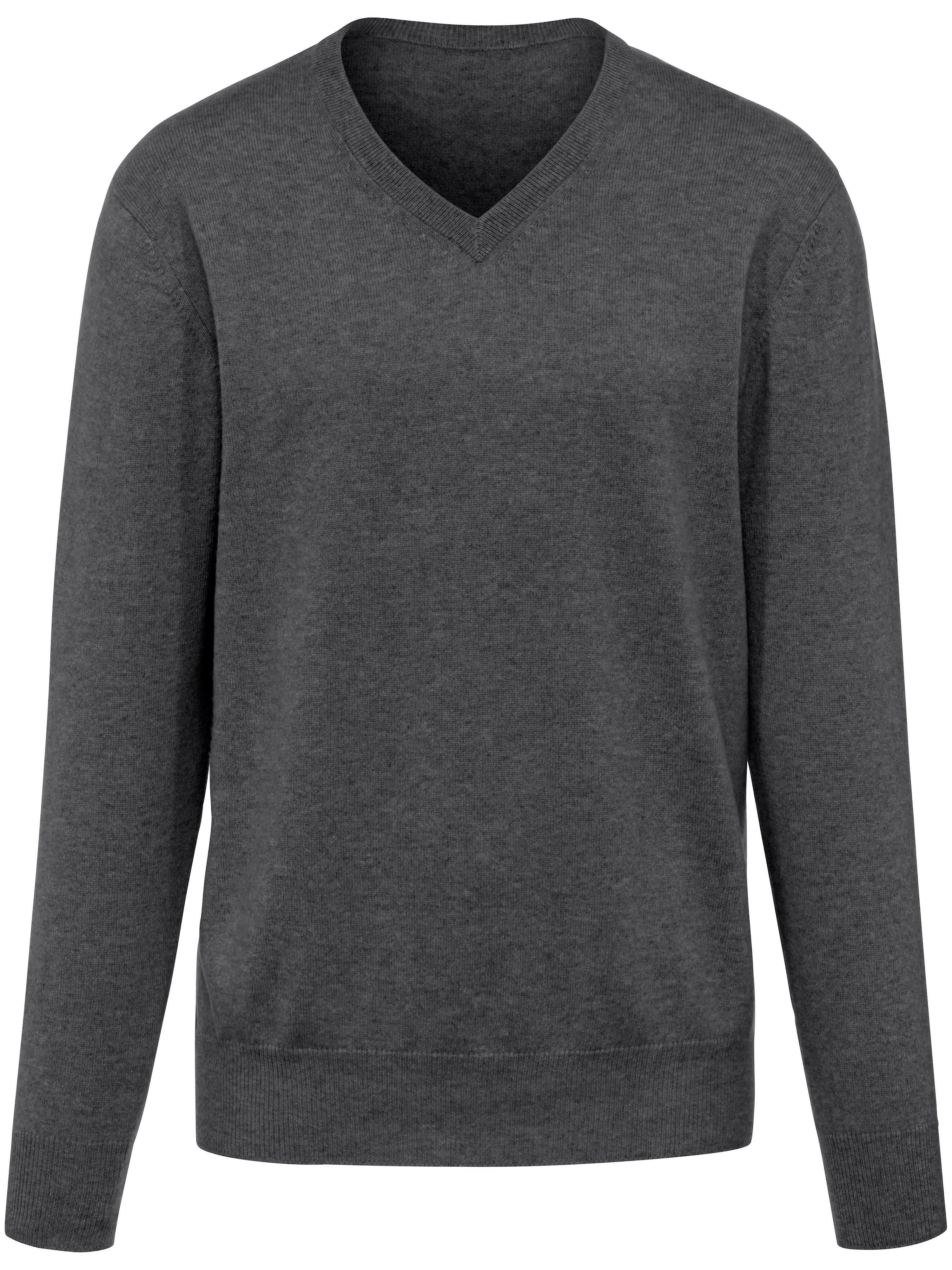Le pull col V 100% cachemire  Peter Hahn Cashmere gris taille 50