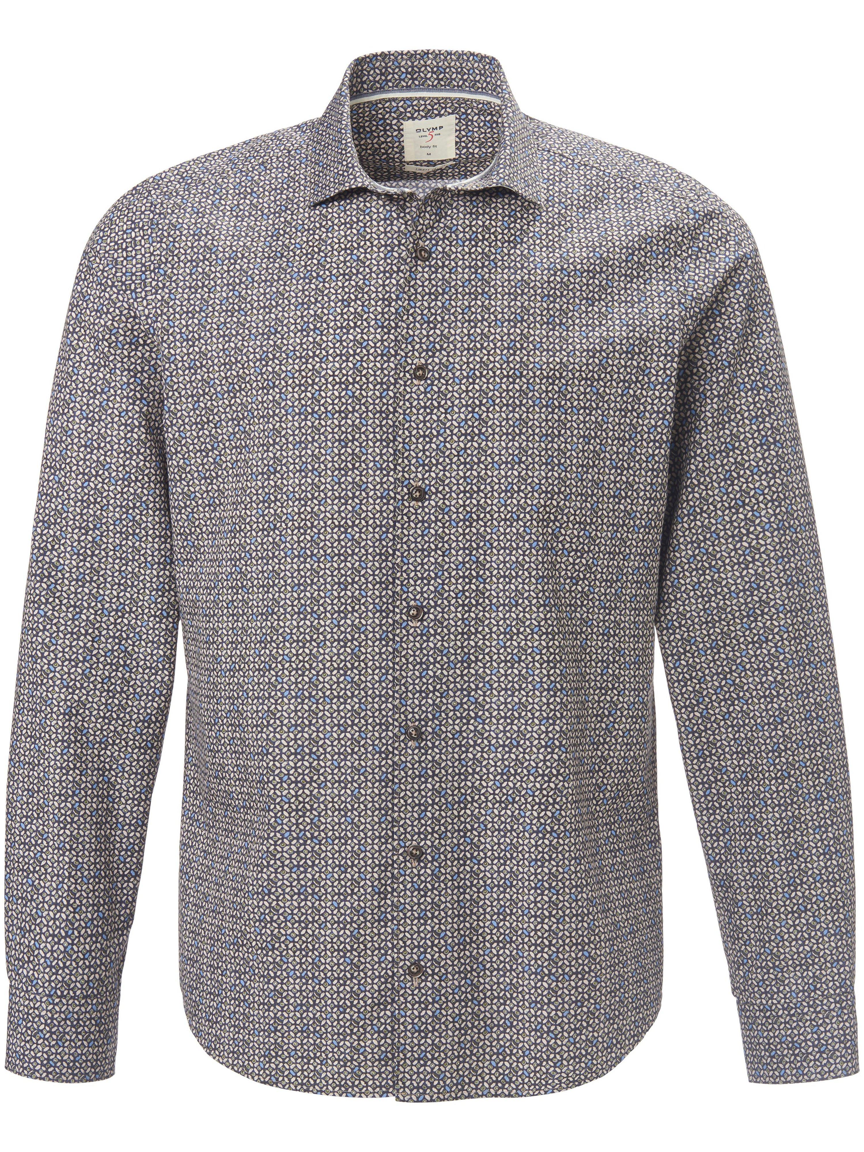 Overhemd 100% katoen Slim Fit Van Olymp groen