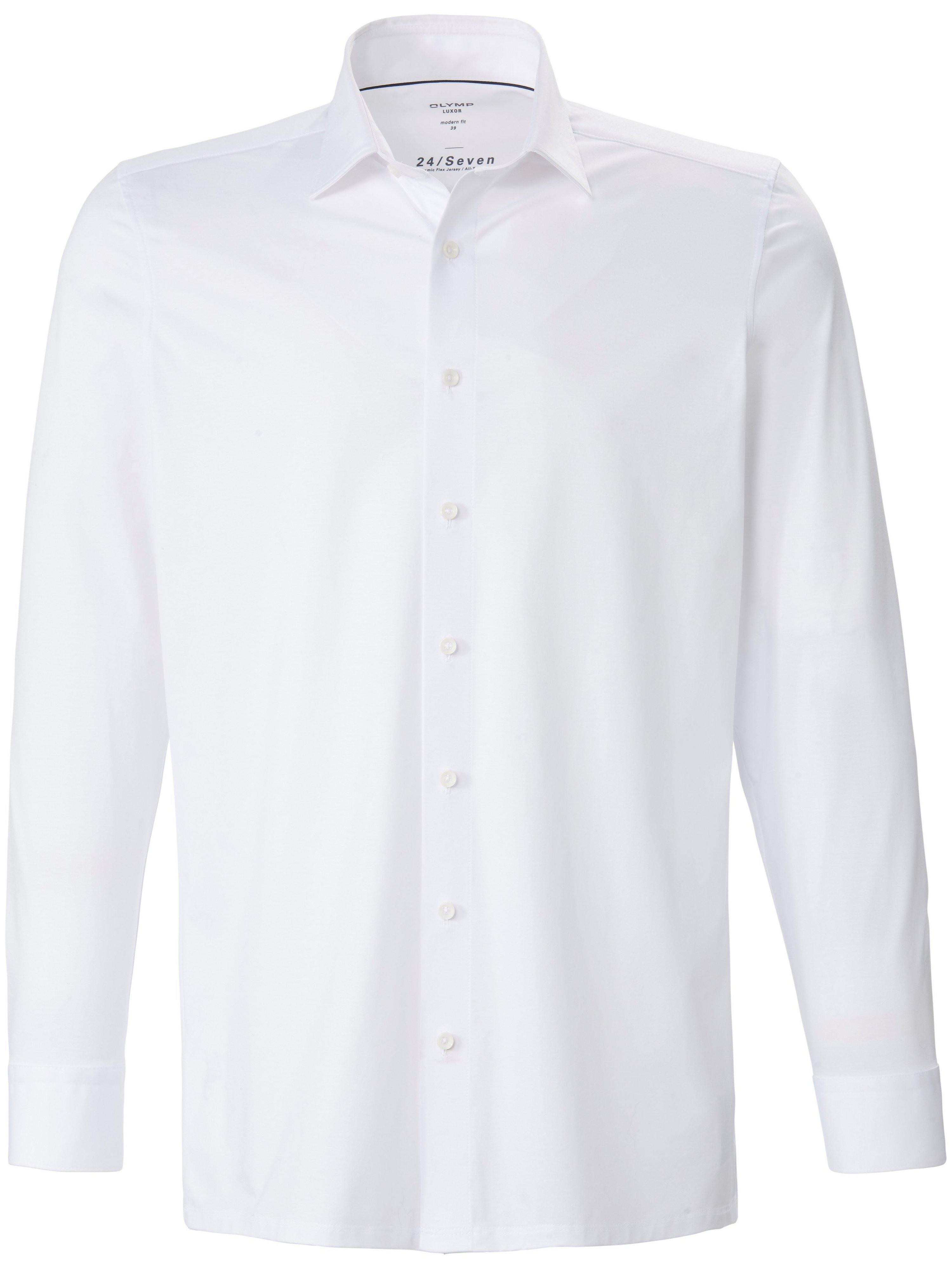 Overhemd jersey kentkraag Van Olymp Luxor wit
