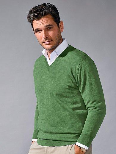 Peter Hahn - V-ringad tröja i 100% ren ny ull