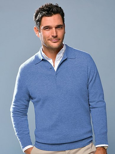 Peter Hahn Cashmere - Polo neck pullover in Pure cashmere in premium qua