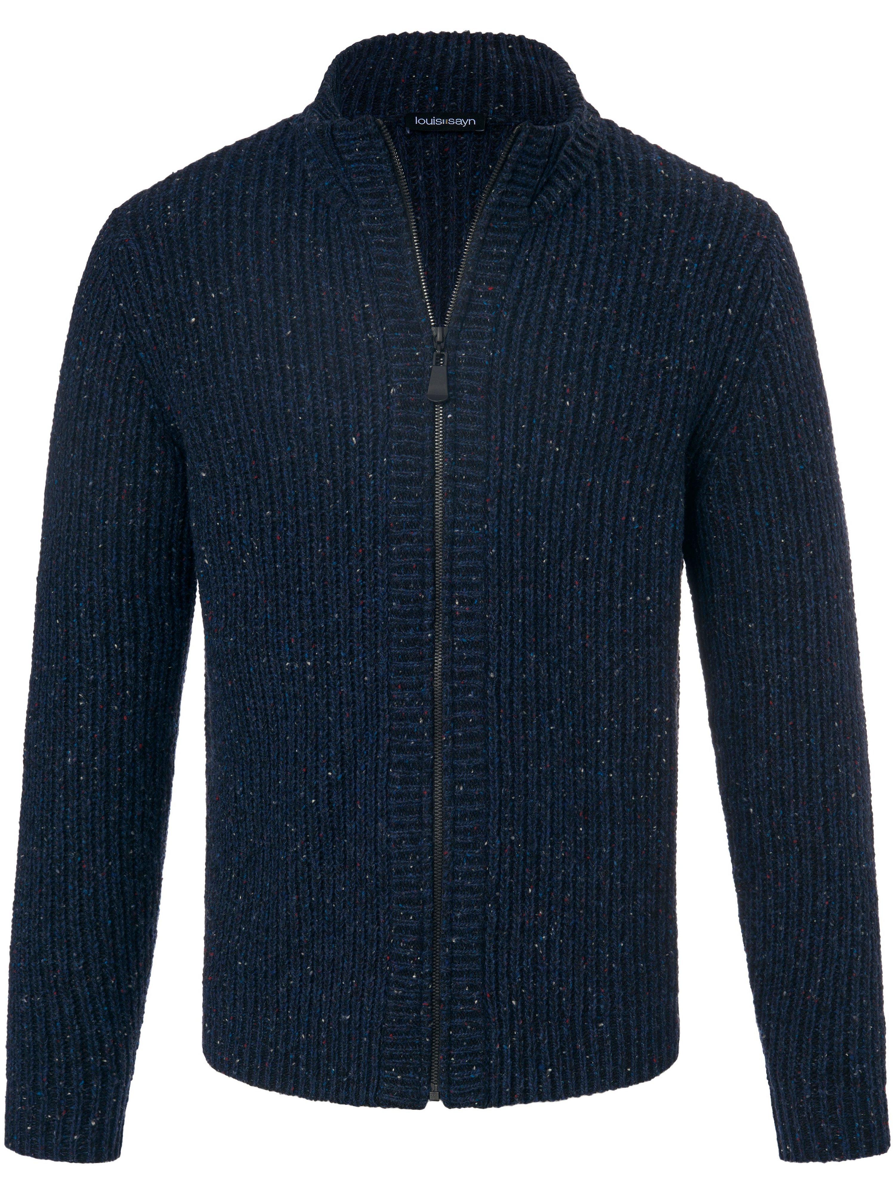 Vest in grofbreisel schipperskraag Van Louis Sayn blauw