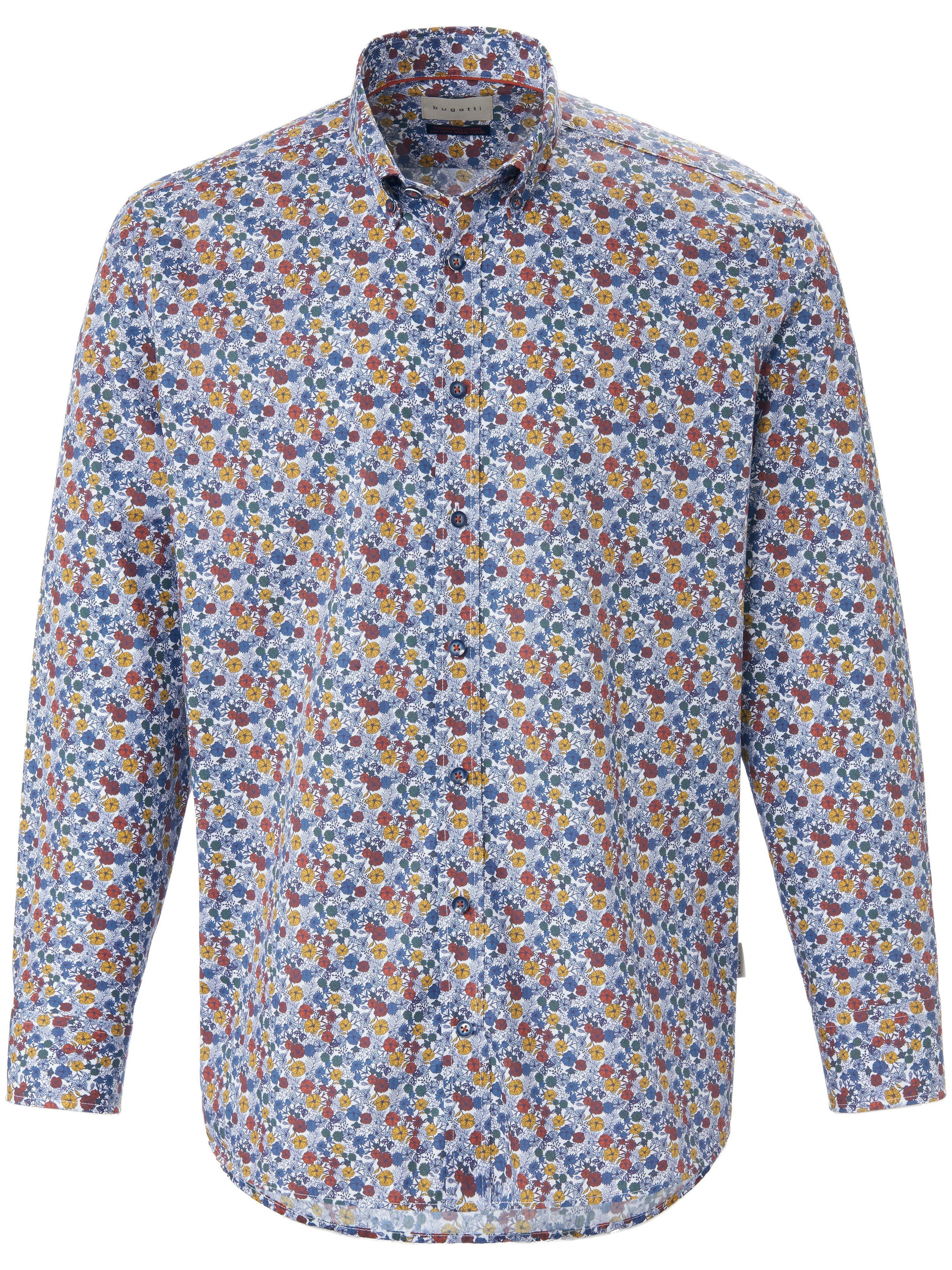 Overhemd 100% katoen Van Bugatti multicolour