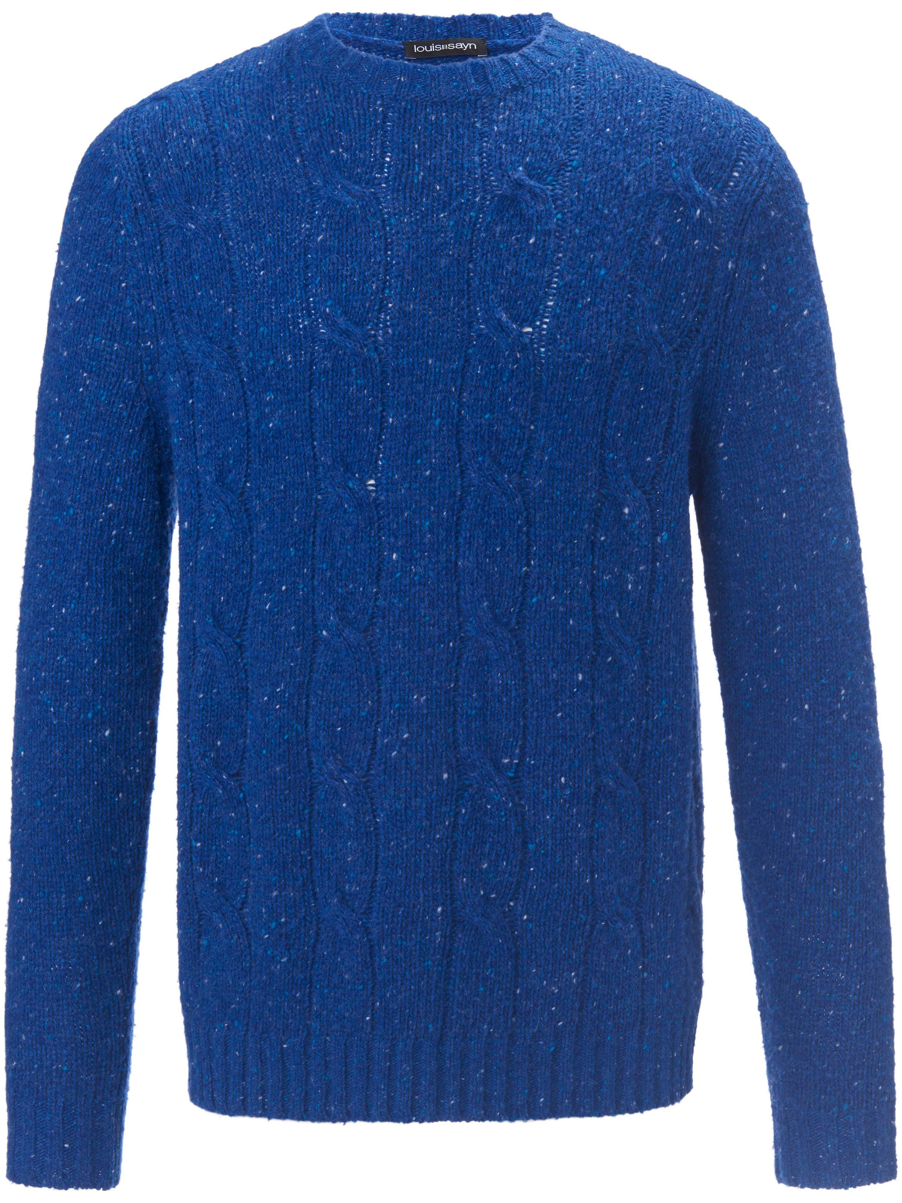 Le pull col ras-de-cou  Louis Sayn bleu taille 56