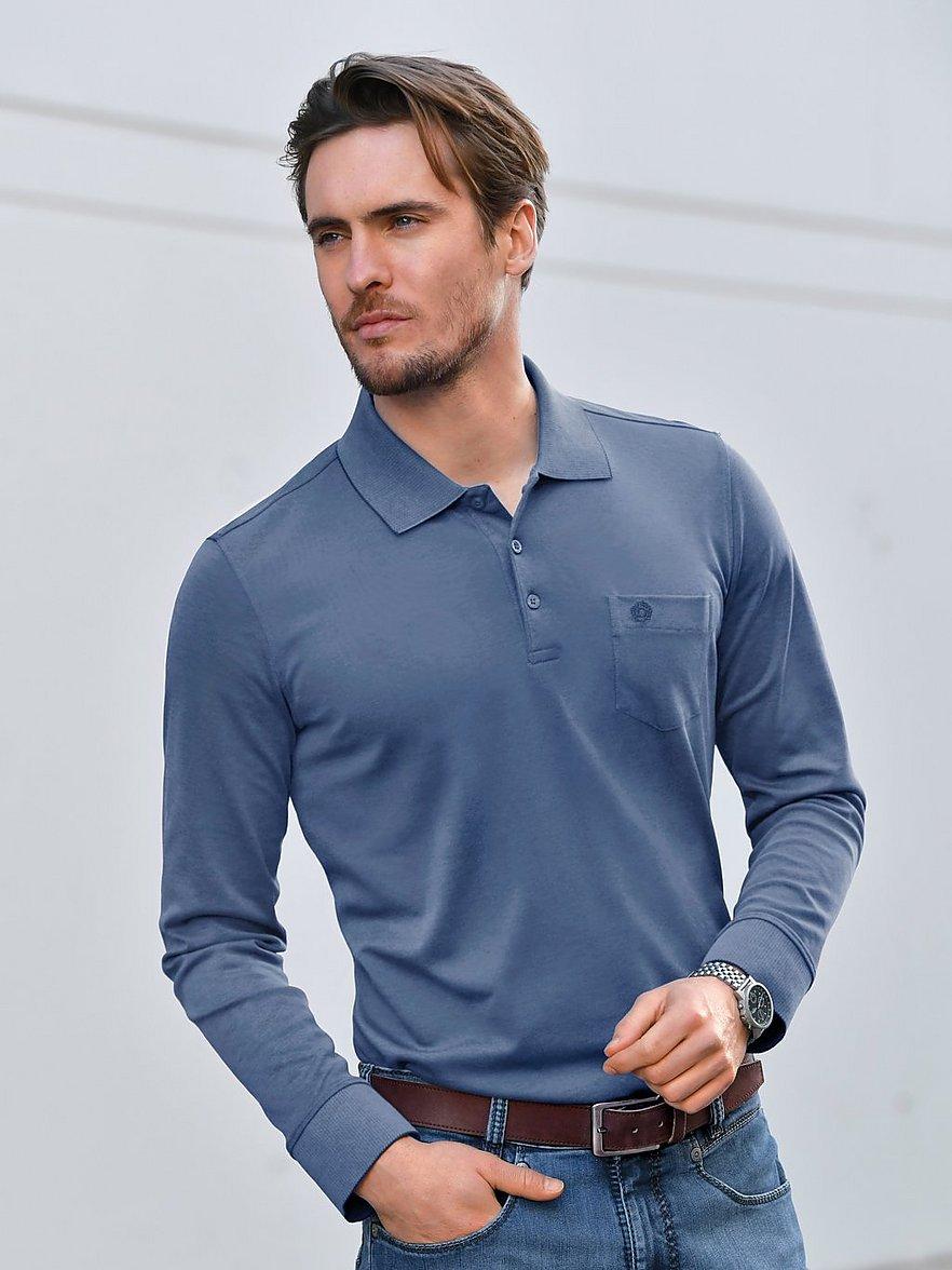 bugatti - Polo-Shirt 1/1-Arm  blau Größe: 56
