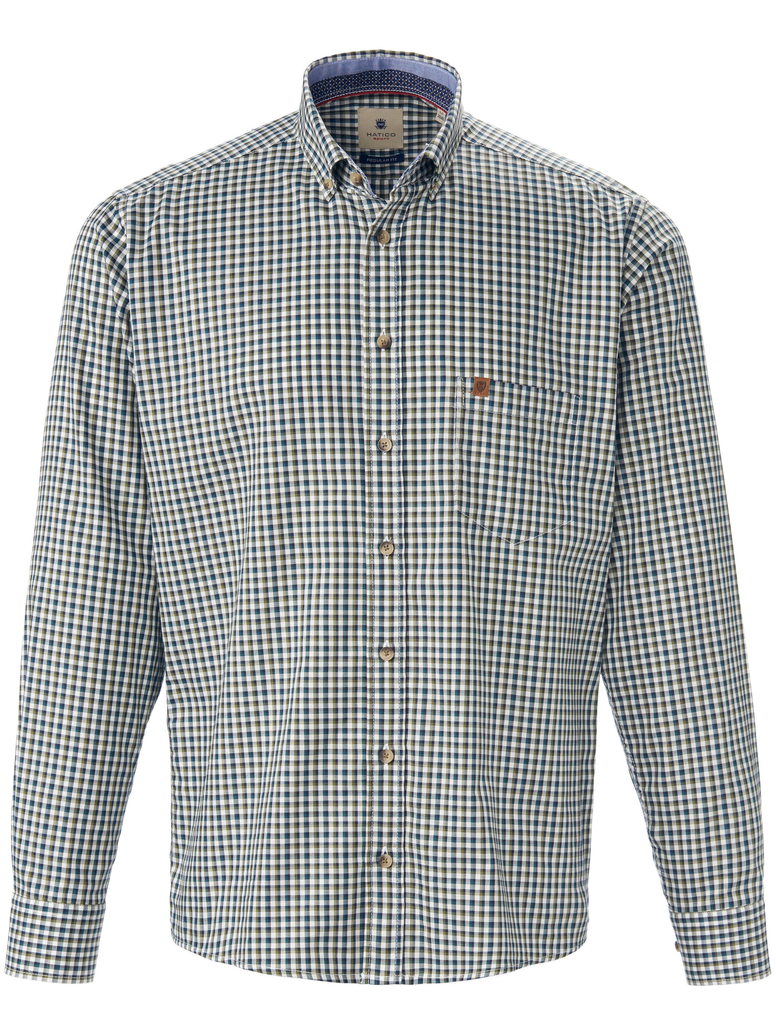Overhemd 100% katoen Van Hatico Sports groen