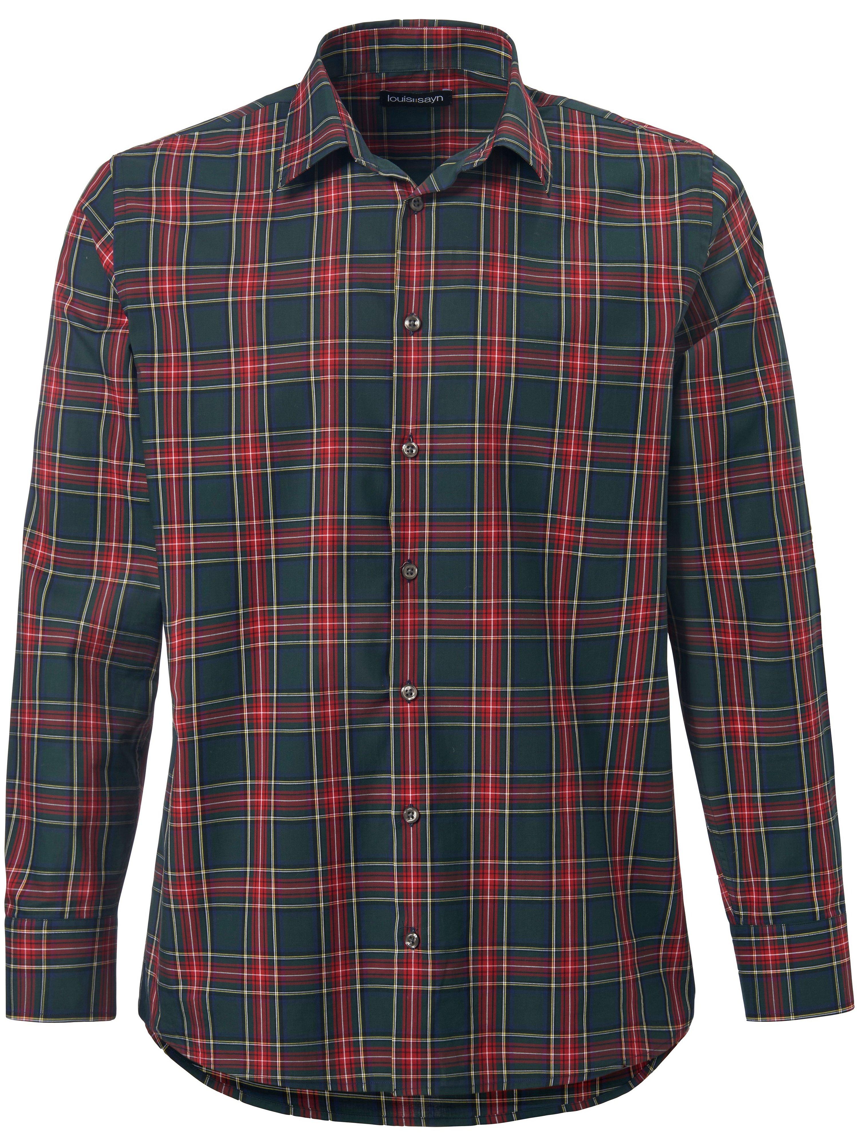 Overhemd 100% katoen Van Louis Sayn groen