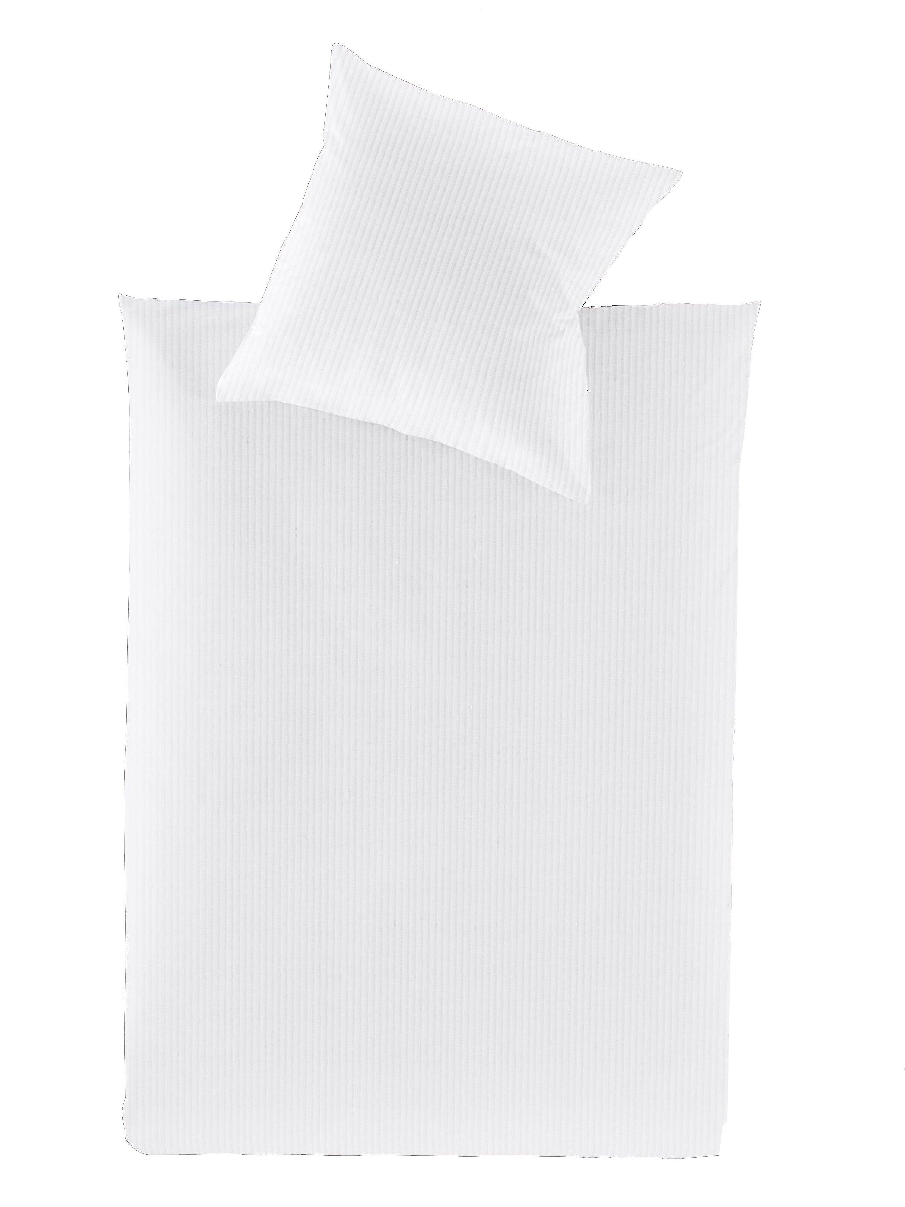 Dekbedovertrek ca. 155x200 cm / sloop ca. 80x80 cm Van Irisette wit