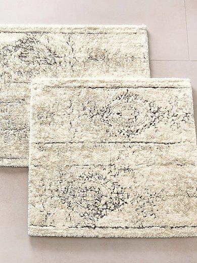 Kleine Wolke Badmat Ca 60x60 Cm Ecru Zilverkleur