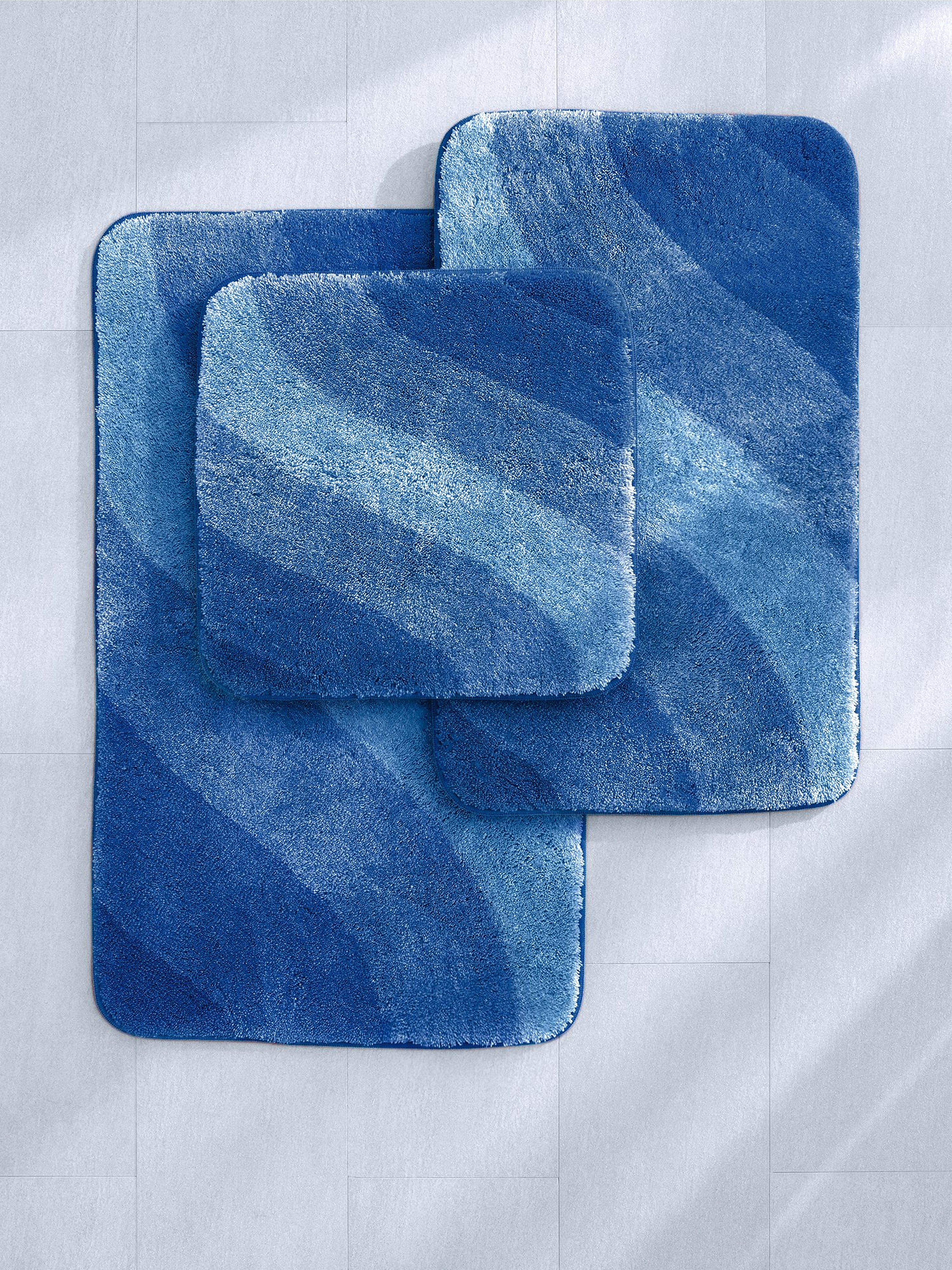 Mat voor staand toilet, ca. 60x60 cm Van Grund blauw
