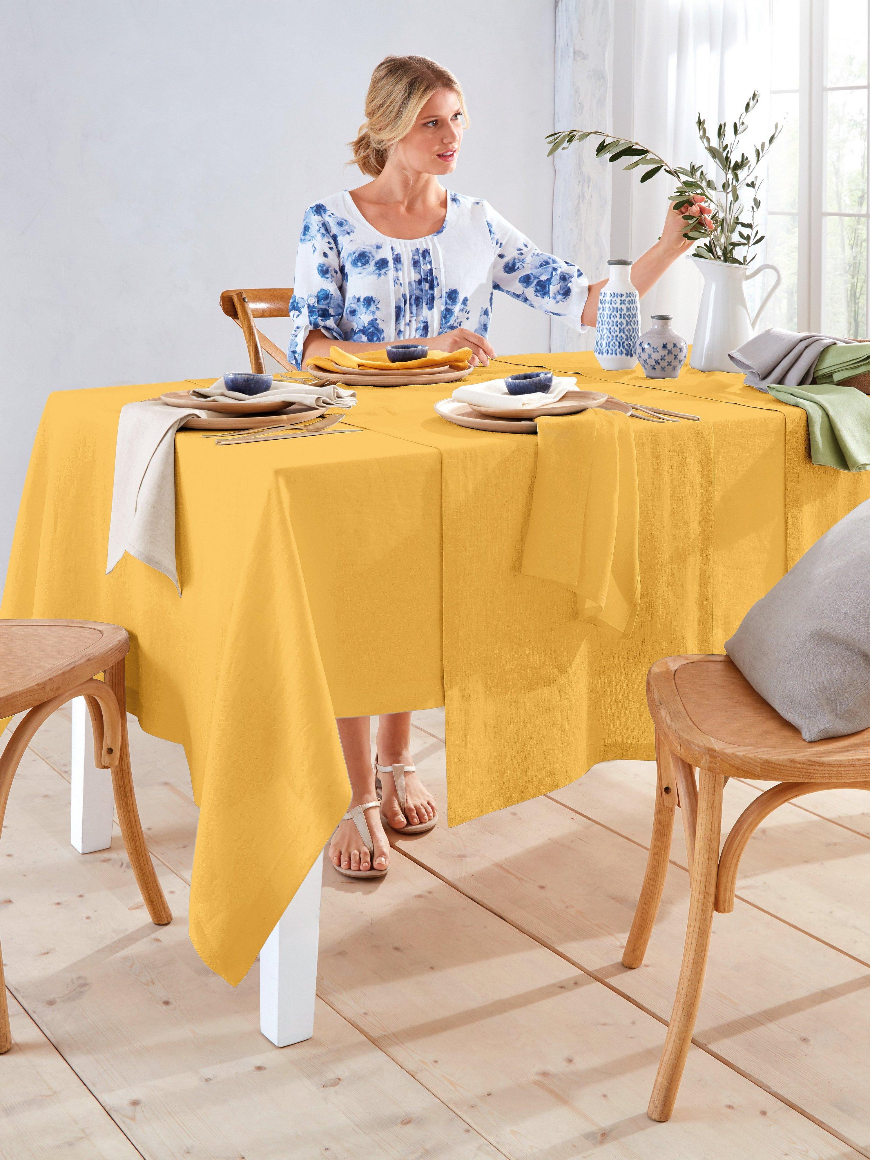 Tafelkleed ca. 150x250 cm Van Sander geel