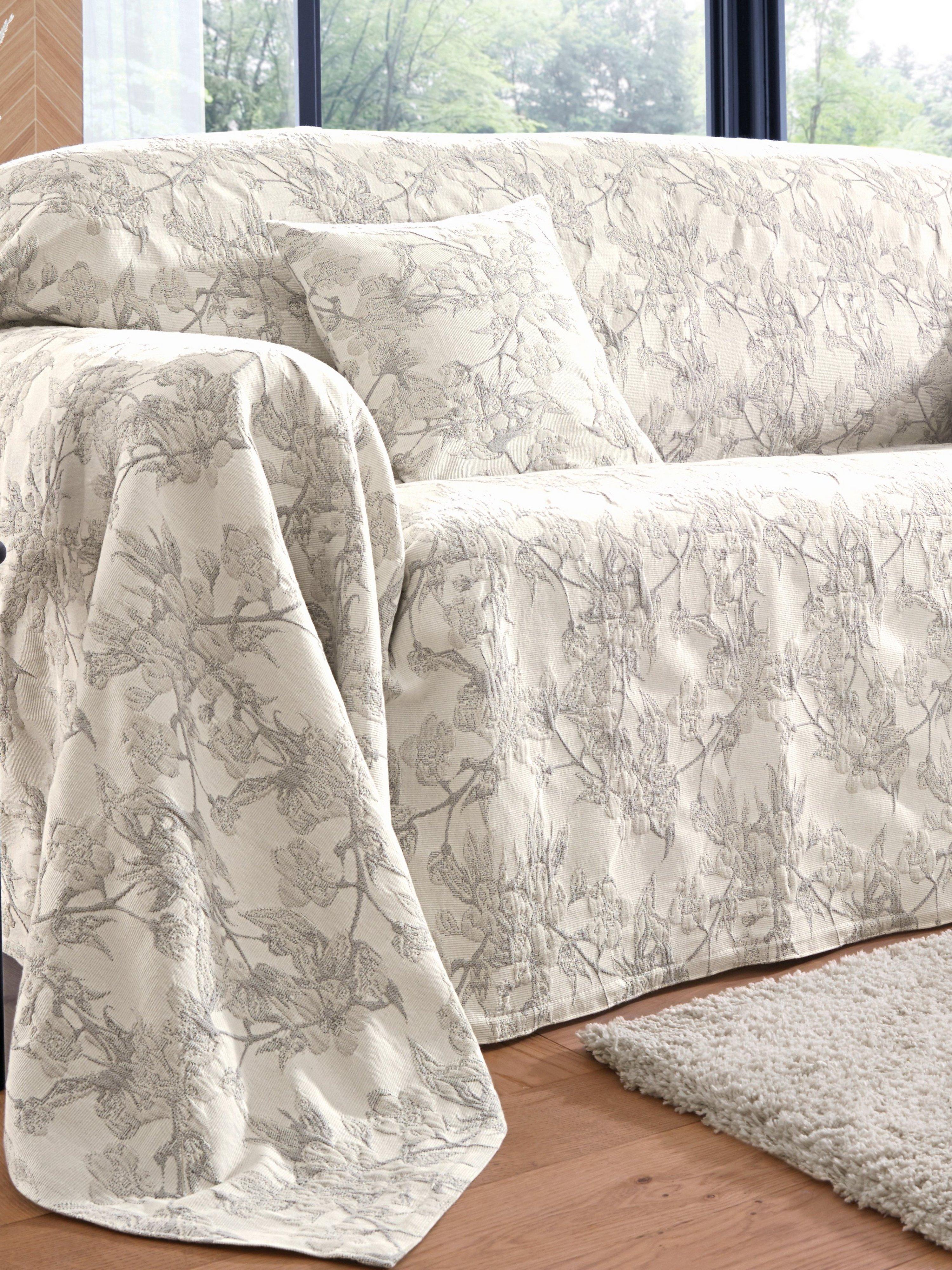 Foulard voor fauteuil ca. 160x190 Van Peter Hahn wit