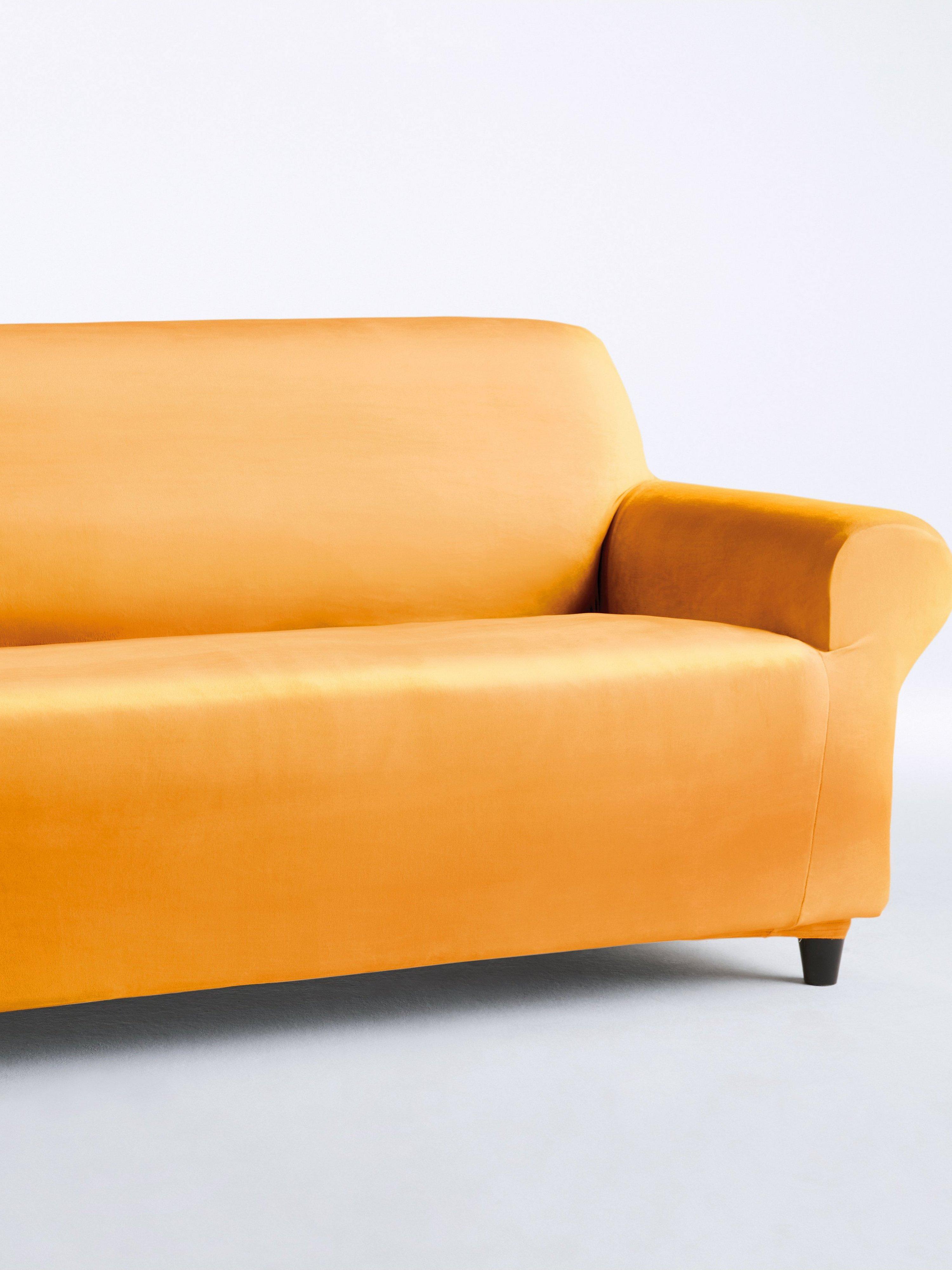 Hoes voor 2-zitsbank ca. 70-85x120-150cm (hxb) Van Peter Hahn geel