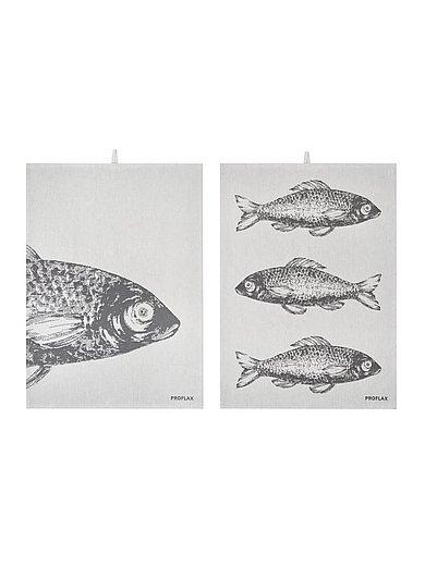 Proflax - Theedoek Vis, ca. 50x70 cm