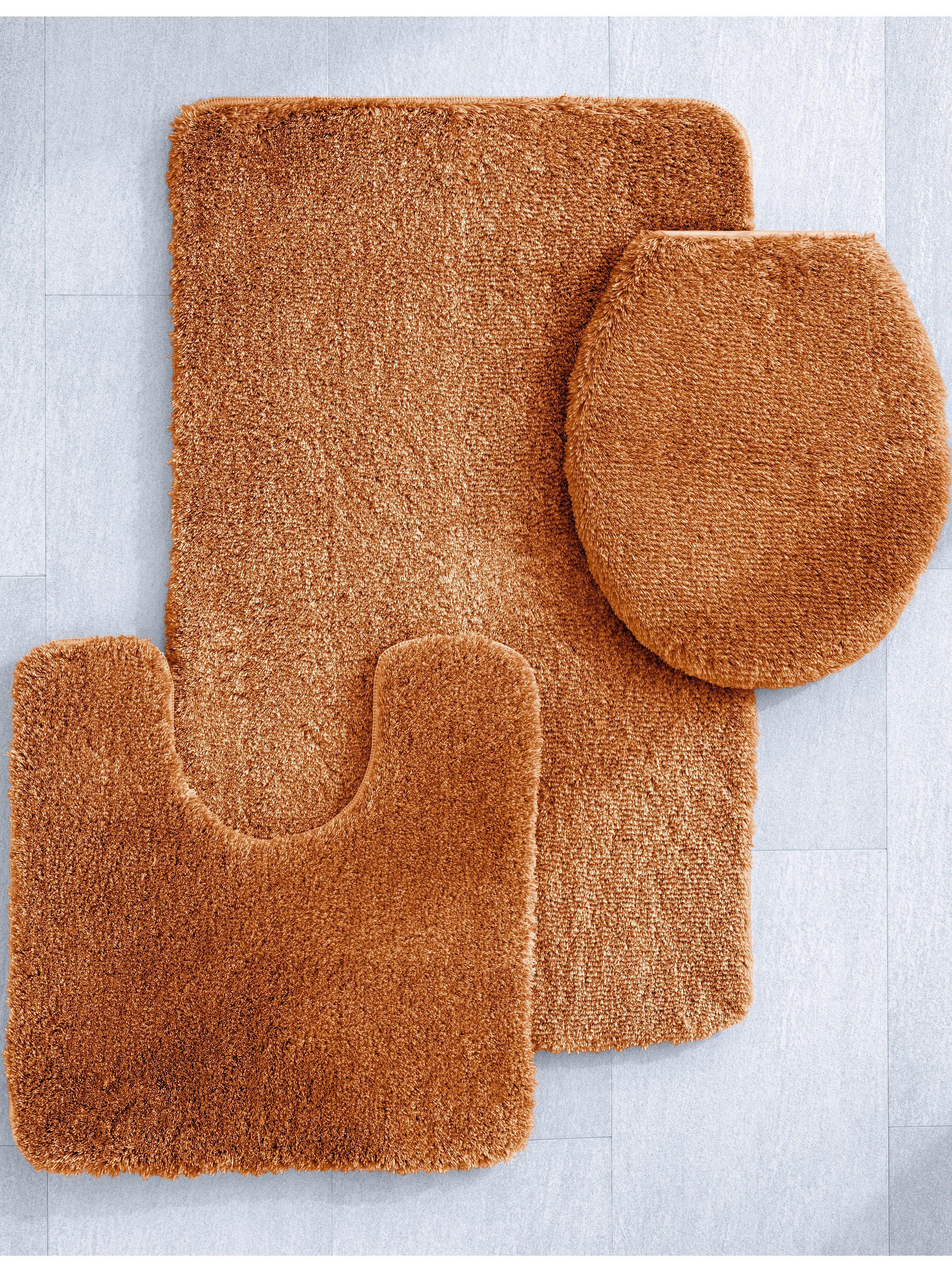 Kleine Wolke Relax badmat b55xd65x3cm, roestbruin