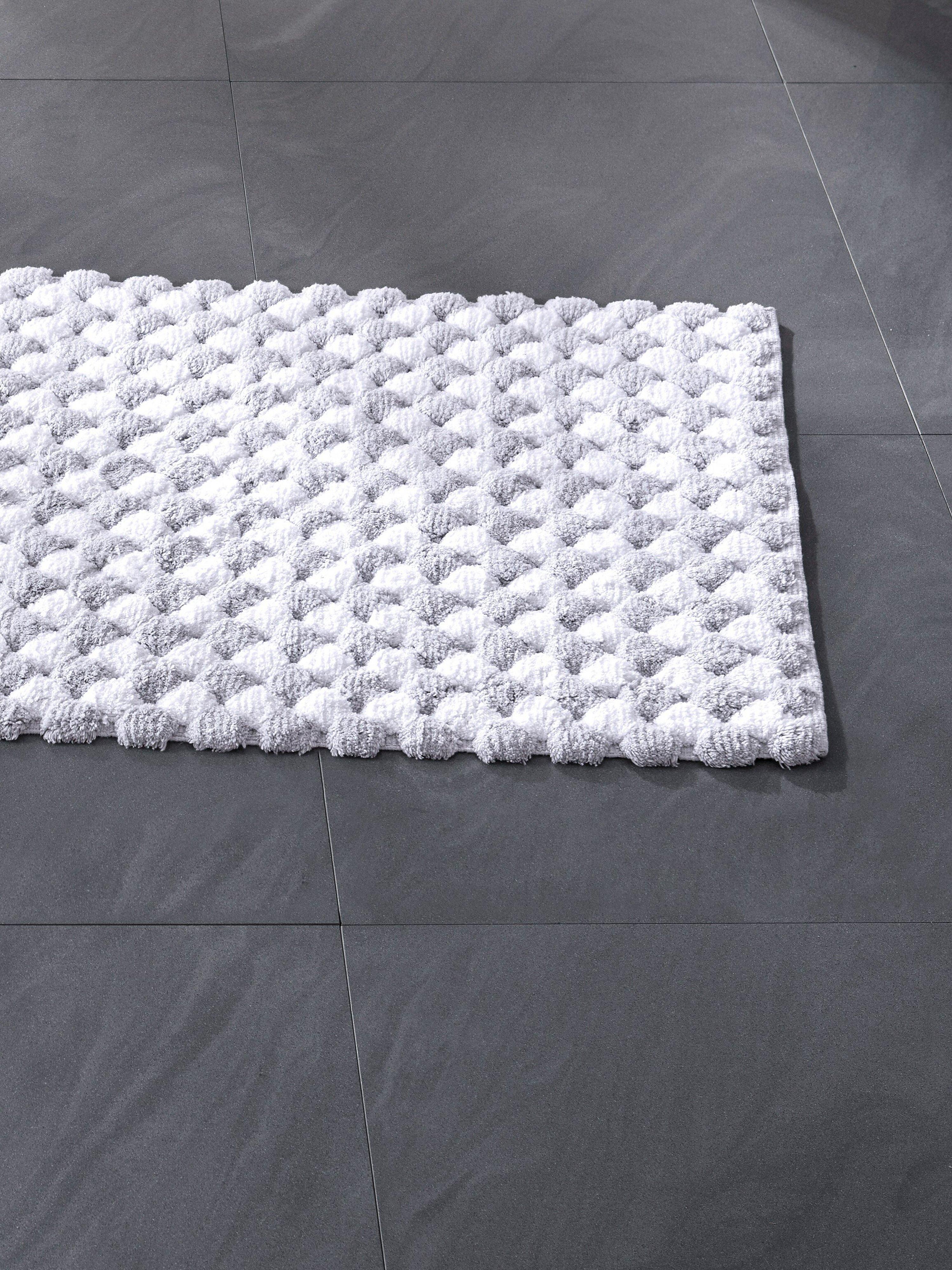 Badmat, ca. 70x120cm Van Kleine Wolke zilverkleur