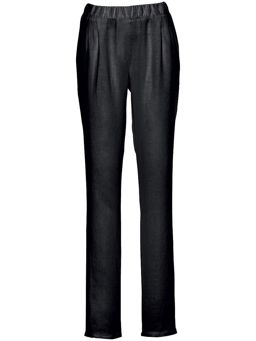 peter hahn - Schlupf-Hose im Chino-Stil  schwarz Größe: 44