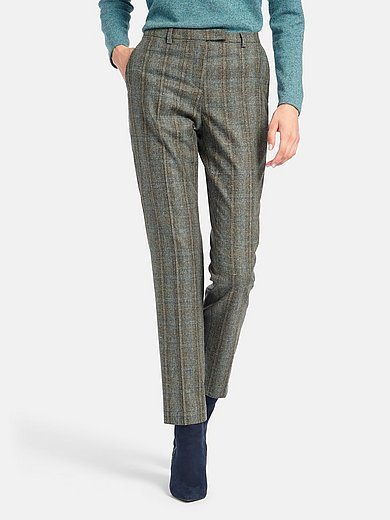 Fadenmeister Berlin - Ankle-length trousers with check pattern