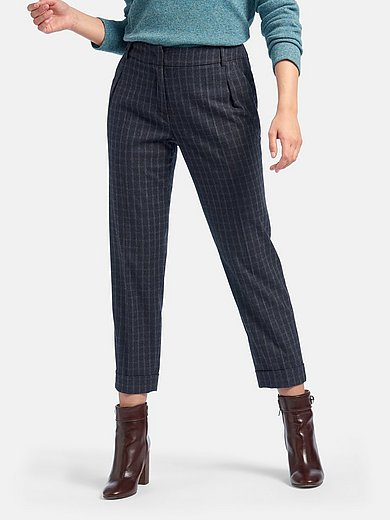 Fadenmeister Berlin - 7/8-length trousers with pleats and turn-ups