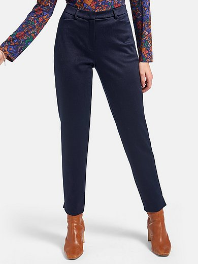St. Emile - Ankle-length jersey trousers with moire effect