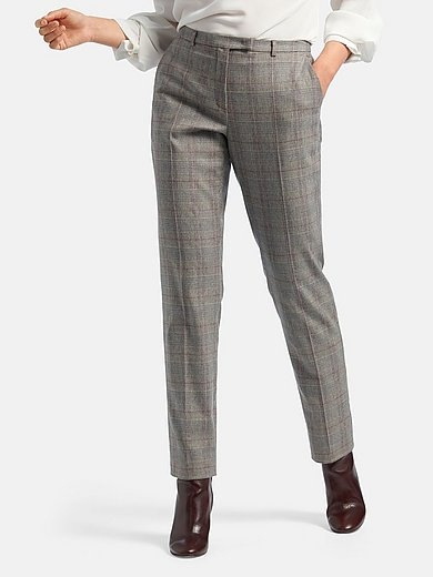 Fadenmeister Berlin - Ankle-length trousers with Prince-of-Wales check
