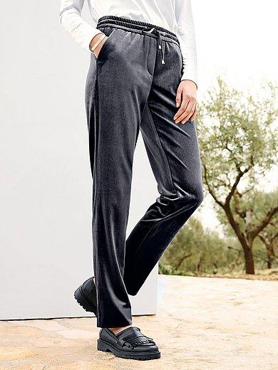 Peter Hahn - Knöchellange Samt-Jogg-Pants