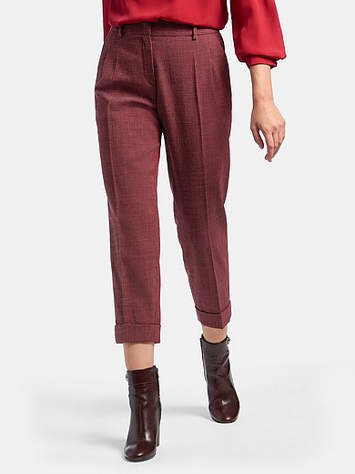 Fadenmeister Berlin - 7/8-length trousers in wool blend