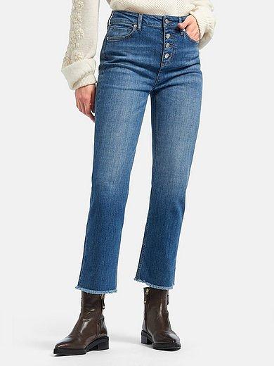 portray berlin - 7/8-jeans met knoopsluiting en uitlopende pijpen