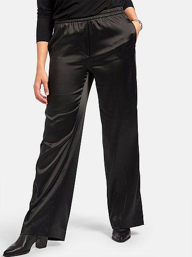 Emilia Lay - Satijnen broek met persplooien