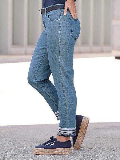 Emilia Lay - Enkellange jeans met smalle pijpen