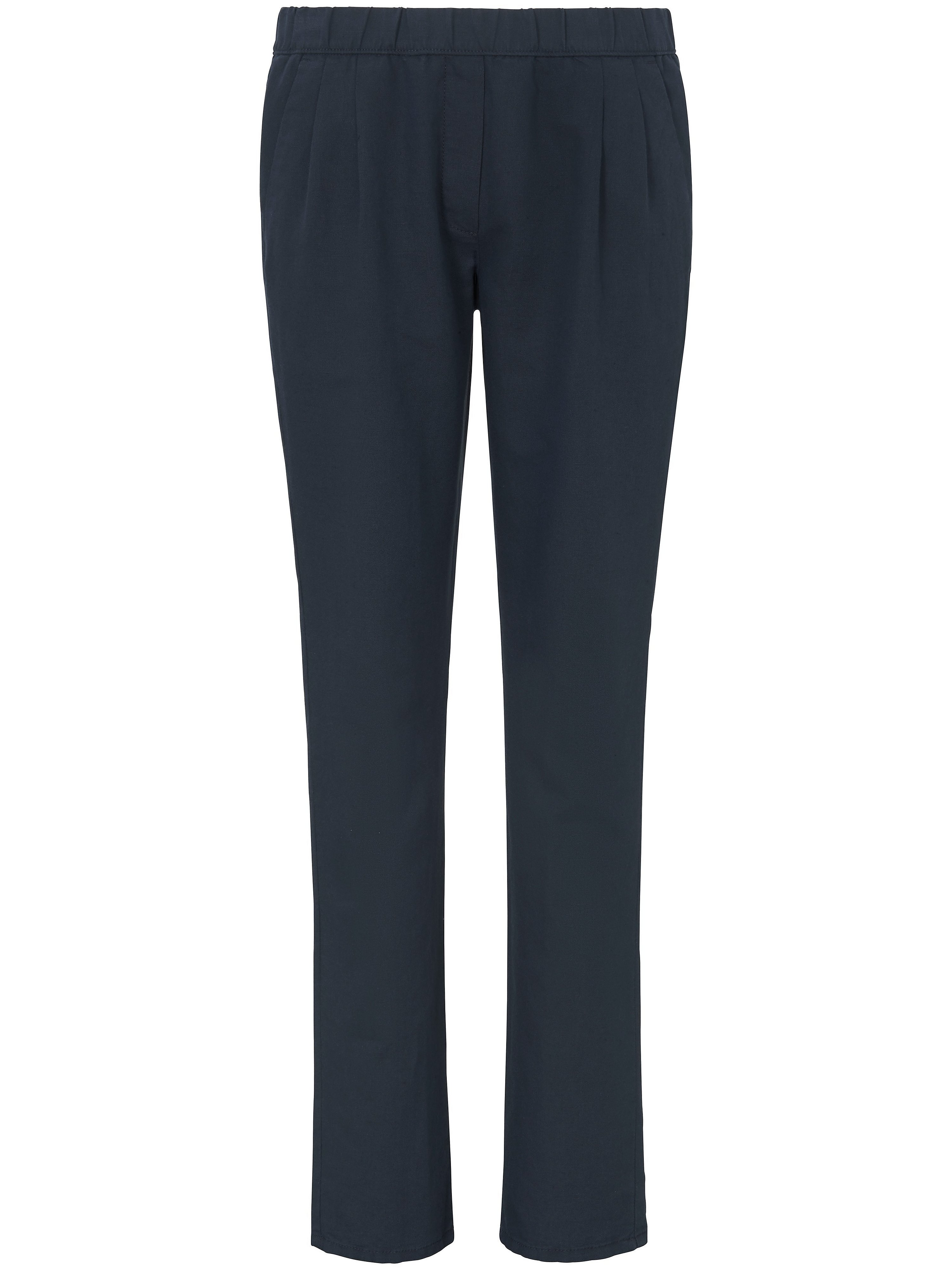 Pleated pull-on trousers Peter Hahn blue