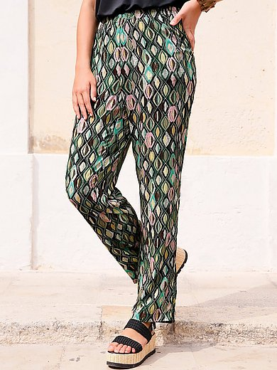 Anna Aura - Summer trousers with graphic diamond print