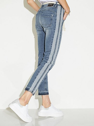 Glücksmoment - Enkellange jeans model Gill met elastische band