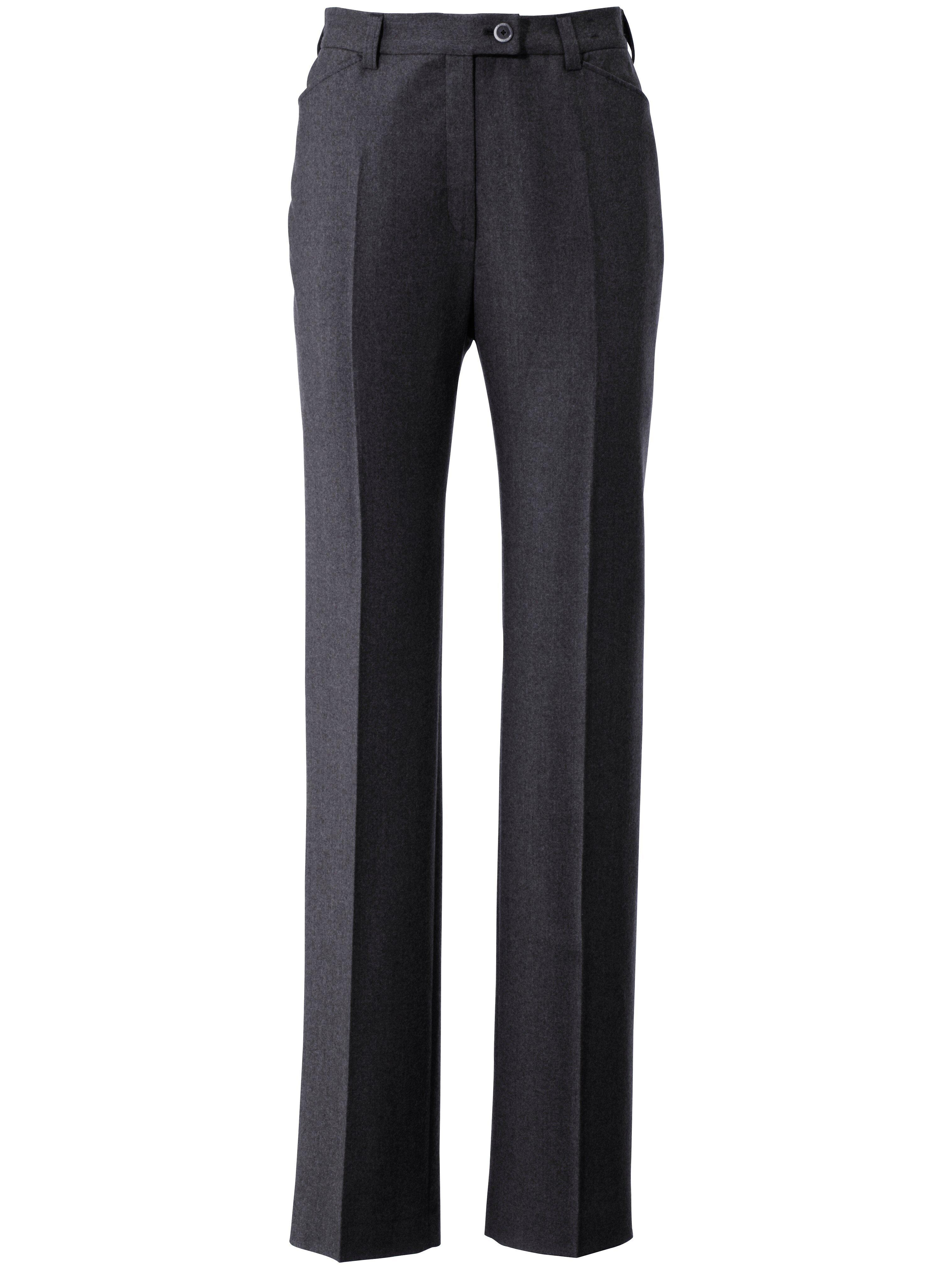 Damen Flanell-Hose Modell NANCY Pro Form Slim Raphaela by Brax grau | Plus Size | 04044818151451