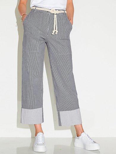 Peter Hahn - Wijde jeans pasvorm Cornelia met streepdessin