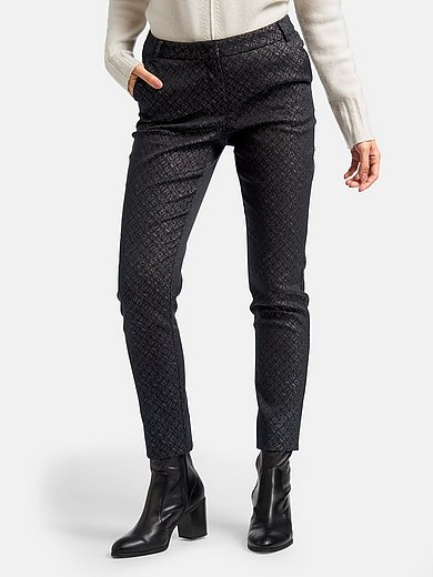 Laura Biagiotti Roma - Ankle-length trousers with minimal pattern