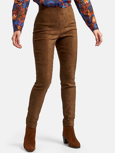 Laura Biagiotti Roma - Leggings made of stretchy faux suede