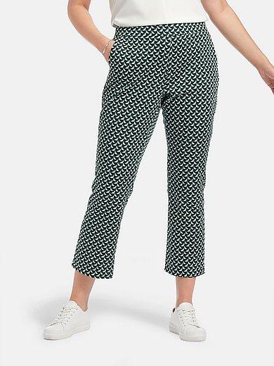 Samoon - 7/8-broek met smalle pijpen en minimal-print