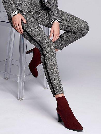comma, - Ankle-length herringbone trousers