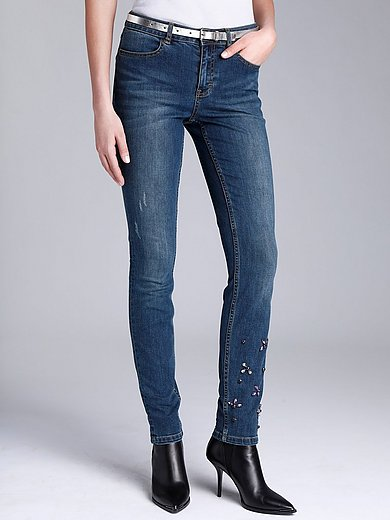 comma, - Jeans in Used-Optik