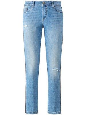 Jeans model GRACE met galons langs de zijnaden Van Glücksmoment denim