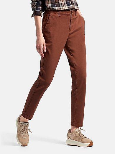 DAY.LIKE - Enkellange Slim Fit-broek in chinostijl