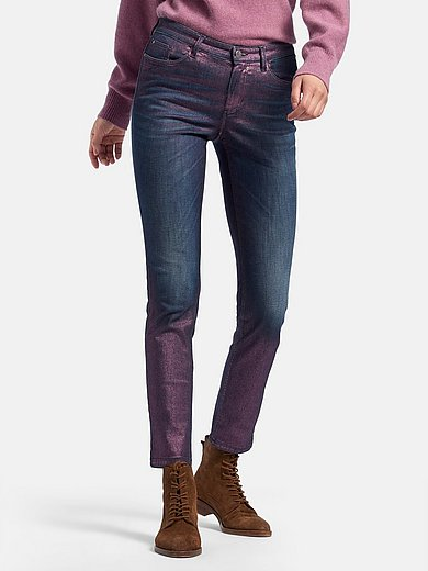 Glücksmoment - Skinny-jeans model Gill met glans-coating