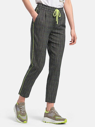 Looxent - 7/8-length trousers with Prince-of-Wales check