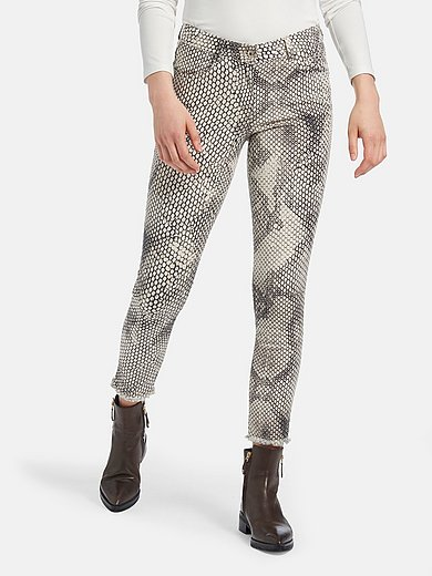 Marc Aurel - Enkellange jeans met slangenprint
