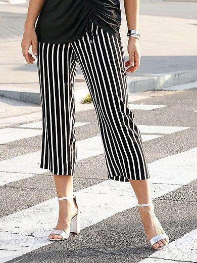Emilia Lay - Le pantalon 7/8 rayé, jambes amples