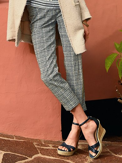 Riani - 7/8-length trousers with fine check