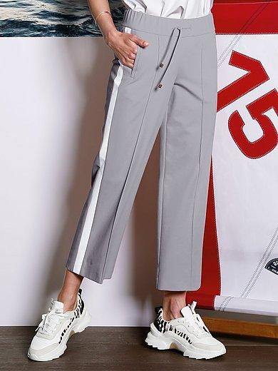 DAY.LIKE - Iets kortere Wide Leg-broek met elastische band
