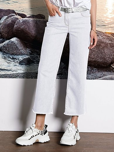 DAY.LIKE - Wijde 7/8-jeans met elastische bandverwerking