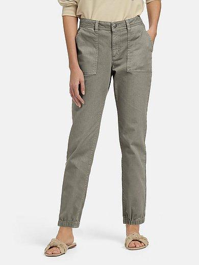 MYBC - 7/8-broek met riemlussen en opgestikte zakken voor